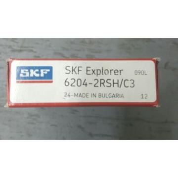 SKF Stainless Steel Bearings-6204-2RSH C3 Single Row Ball Bearing NEW IN BOX. *FAST FREE SHIPPING*