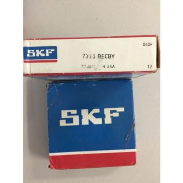 NEW SKF Stainless Steel Bearings-ANGULAR CONTACT ROLLER BALL BEARING NIB 7311 BECBY