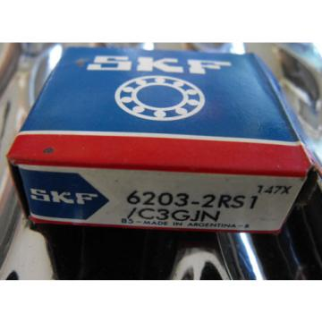 SKF Stainless Steel Bearings-  6203-2RS1/C3GJN  Single Row Ball Bearing
