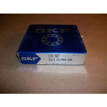 SKF Stainless Steel Bearings-Roller Bearing 1/2 Set  7213  CD/P4A  DGA   NEW IN BOX
