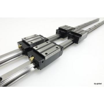 SBC SBG15SL+820L Used LM Guide Linear Bearing CNC Lathe Mill Router 2Rails 4Blo