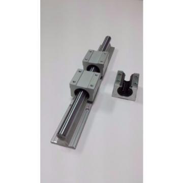 "Linear Guide Rail 31"" x 2 Block Bearings x 4 CNC Router Mill Plasma Laser Lathe"