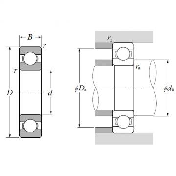 16006, Single Row Radial Ball Bearing - Open Type