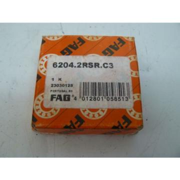 NEW FAG 6204.2RSR.C3 BALL BEARING 20MM ID 47MM OD 14MM HT