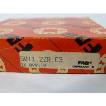 Fag 6011-2ZR-C3 Deep Groove Ball Bearing ! NEW !