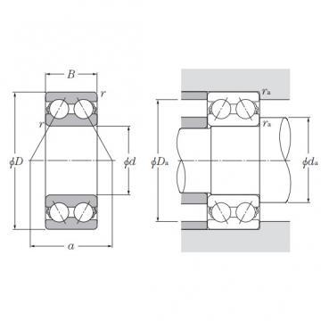 5220C3, Double Row Angular Contact Ball Bearing - Open Type, Series 5200 & 5300