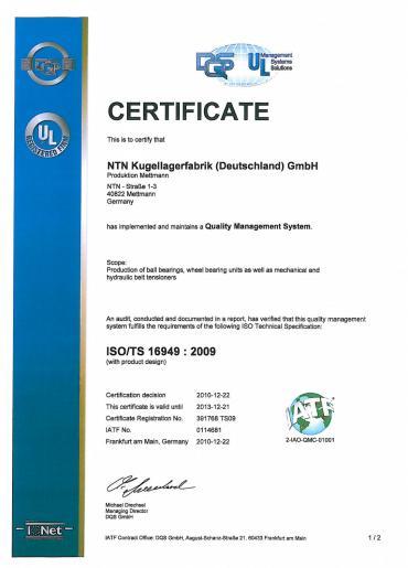 ISO/TS 16949 : 2009